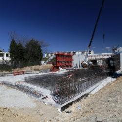 4 - Ferraillage du mur latéral de la trémie d'entrée / sortie sud du BUS (côté Verdillon)