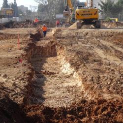 Section 2 - Terrassement pour réalisation des murs en gabions d'enceinte du nouveau boulodrome de Saint Tronc