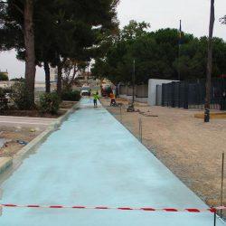 Section 2 - Désactivation des bétons des pistes cyclables sur le parvis devant le Lycée Jean Perrin.