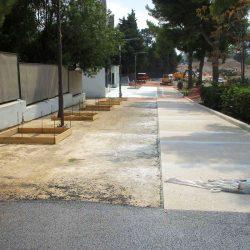 Section 2 - Aménagements paysagers et piste cyclables sur le parvis devant le Lycée Jean Perrin.
