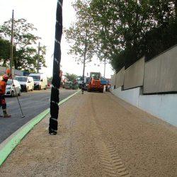 Section 2 - Aménagement de trottoirs de la voie d'accès au Lycée Jean Perrin.