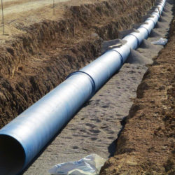 Section 2 - Pose du réseau d'eau potable entre la rue François Mauriac et la trémie sud